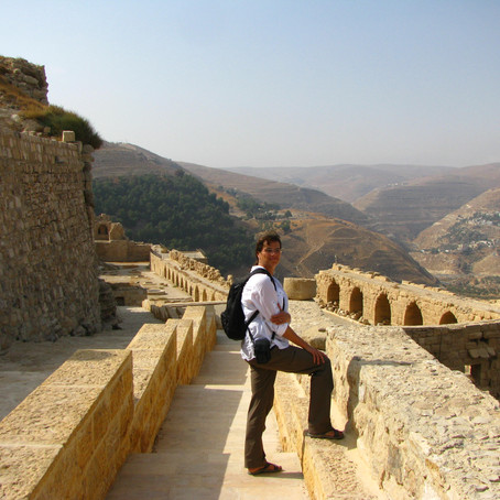 Infamous Crusader Castle at Karak Jordan