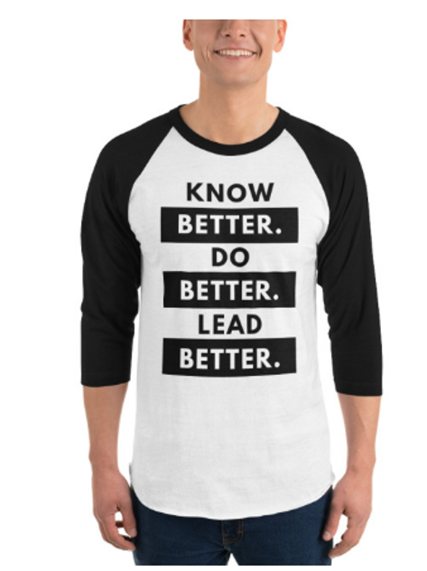 Adult Unisex 3/4 sleeve Raglan Better Shirt