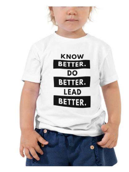 Do Better Toddler Tee (Black)