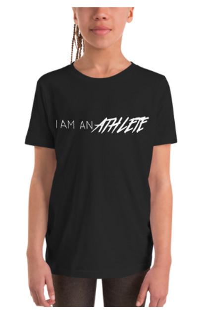 I Am An Athlete - Youth Short Sleeve T-Shirt