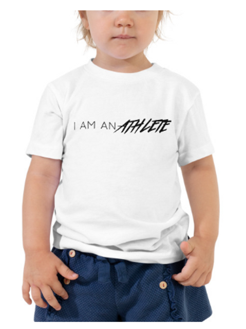 I Am An Athlete - Toddler Short Sleeve Tee