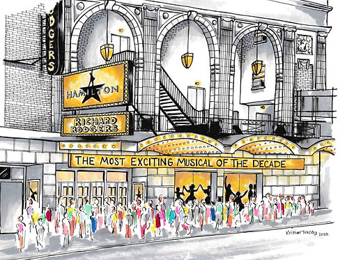 Hamilton at the Richard Rodgers Theatre on Broadway.