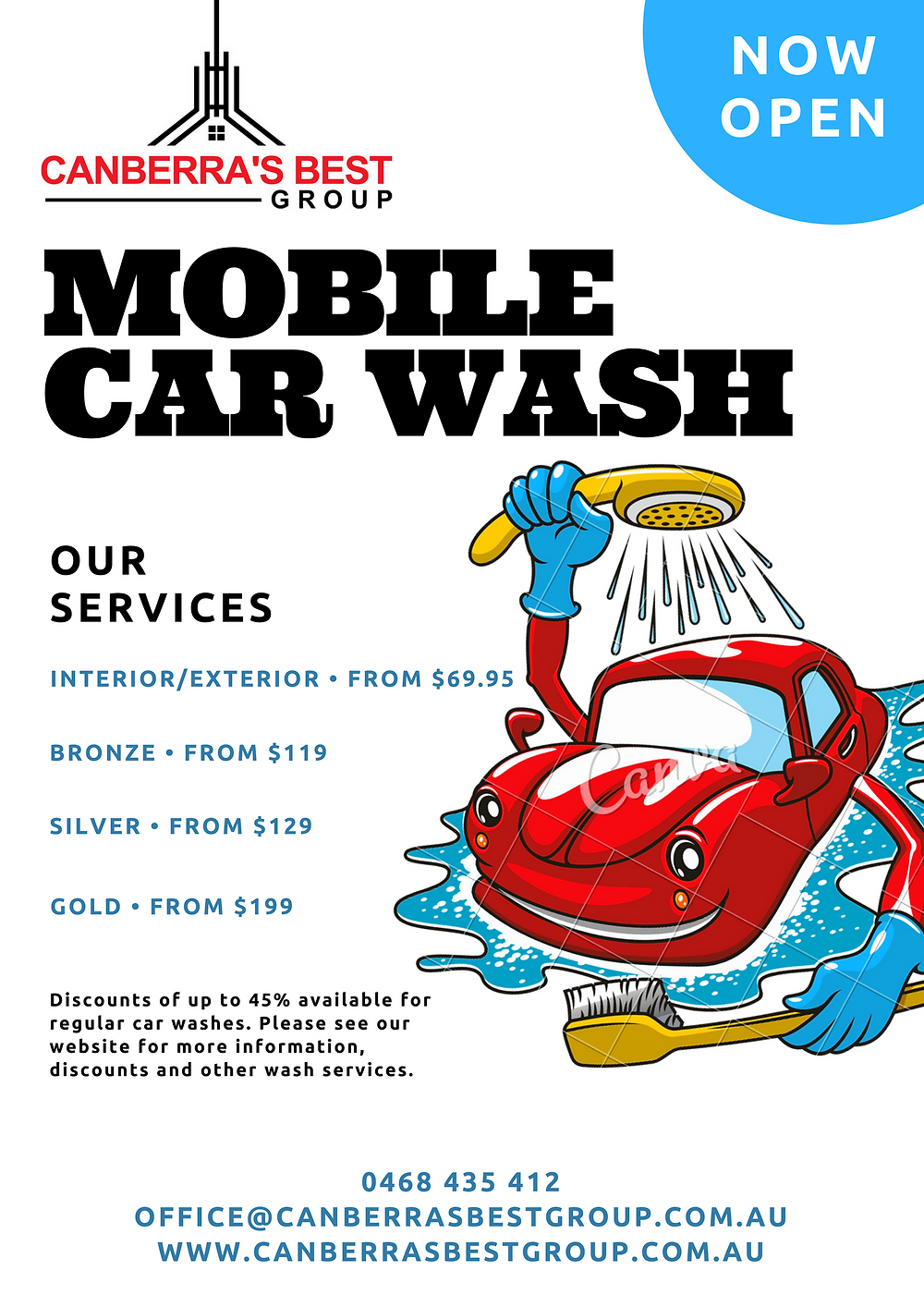 Mobile Car Wash Canberra