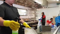 industrial kitchen cleaning