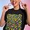 Thumbnail: LEOPARD SPOTS Multi/Black Oversized T-Shirt