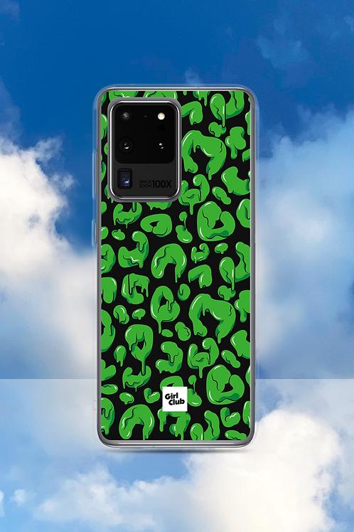 LEOPARD SPOTS Green Samsung Case