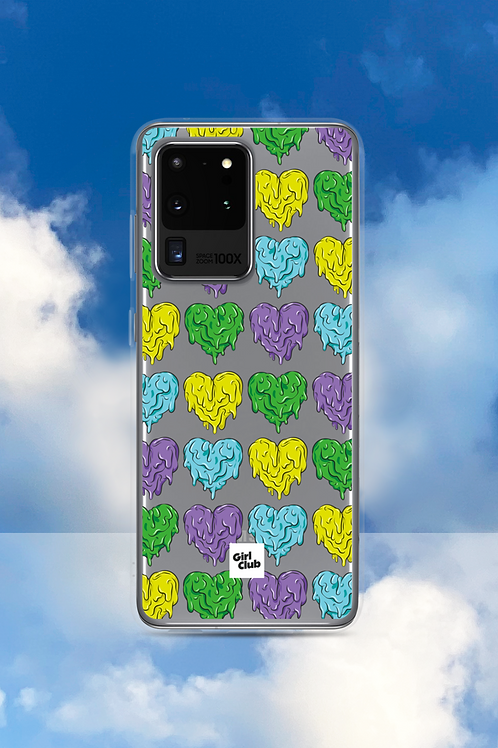 A WHOLE LOTTA HEARTS Green/Purple Samsung Case