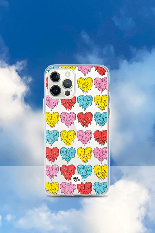A WHOLE LOTTA HEARTS Pink/Red iPhone Case