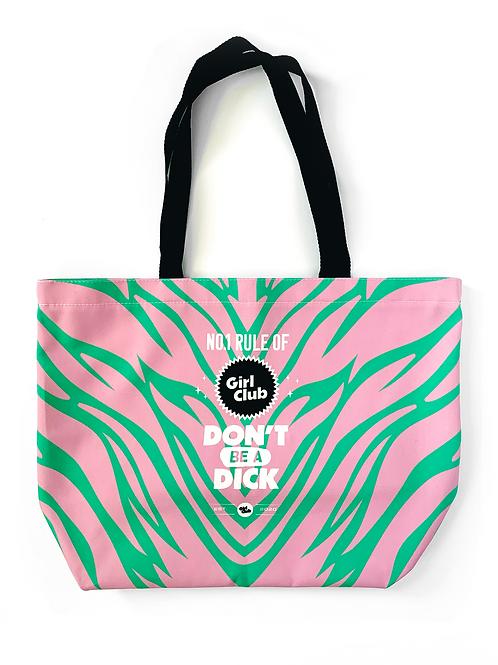 Zebra Girl Club Tote Bag