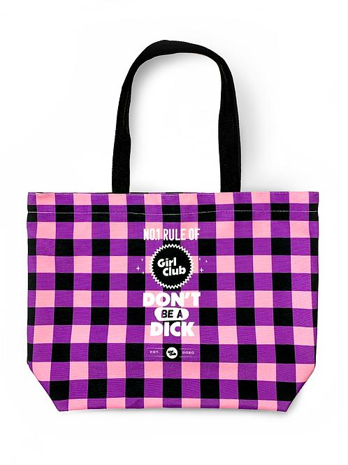 Purple Girl Club Tote Bag