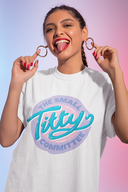 THE SMALL TITTY COMMITTEE  Pastel T-Shirt