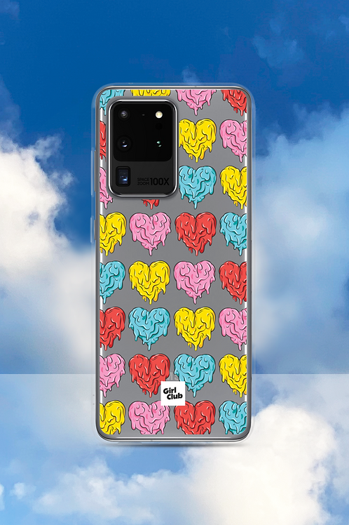 A WHOLE LOTTA HEARTS Pink/Red Samsung Case