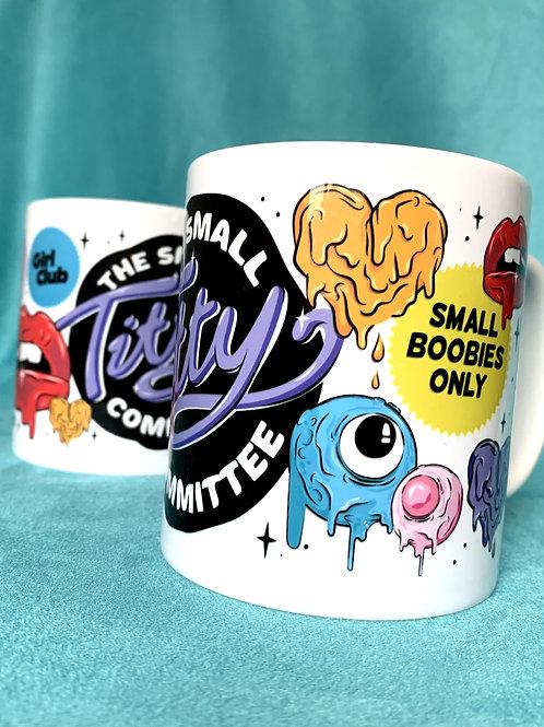 THE SMALL TITTY COMMITTEE Graffiti Mug