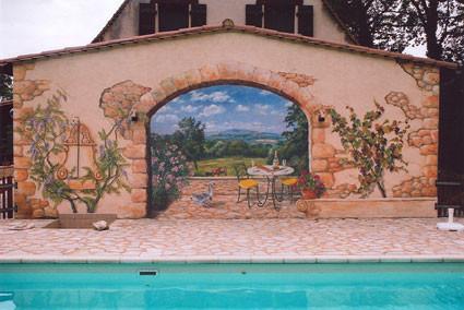 Van der Starre pool mural, Domme, France