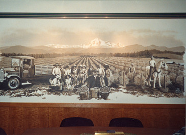 Berry Best boardroom mural