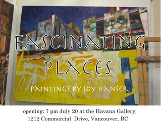 Invitation to a display of paintings