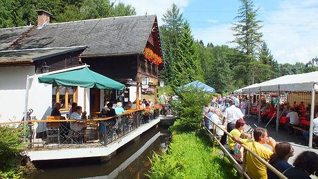 Ziegentreffen in Steinbach im Erzgebirge