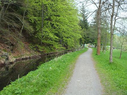 Fahrrad & Wanderweg bei Steinbach Erzgebirge