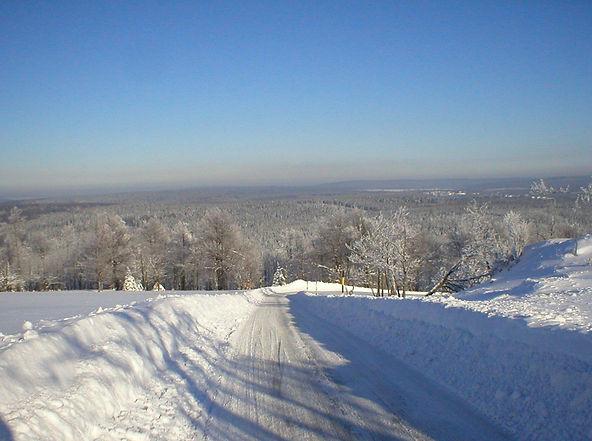 Blick vom Hirtstein im Winter