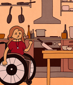 Cooking in a Wheelchair