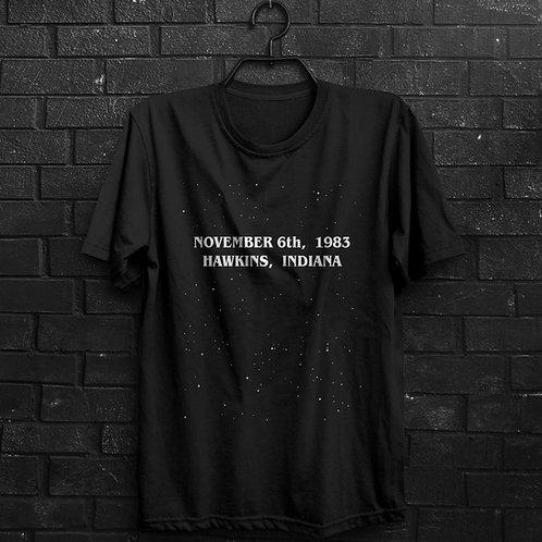 Camiseta - November 6th 1983 - Stranger Things