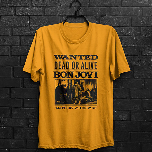 Camiseta - Bon Jovi Wanted Dead Or Alive