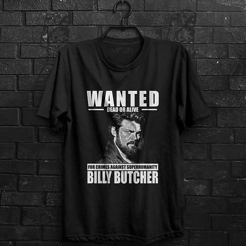Camiseta - Wanted Billy Butcher - The Boys