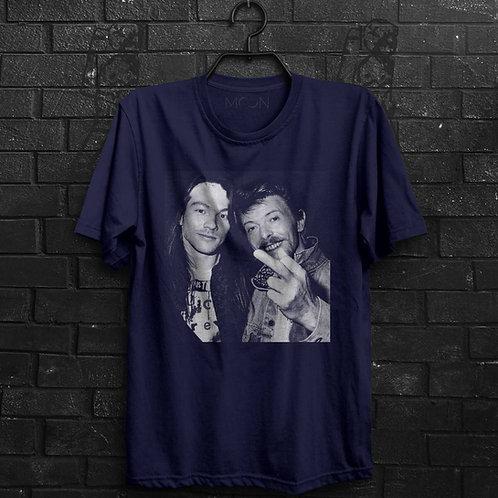 Camiseta - Axl Rose & Bowie