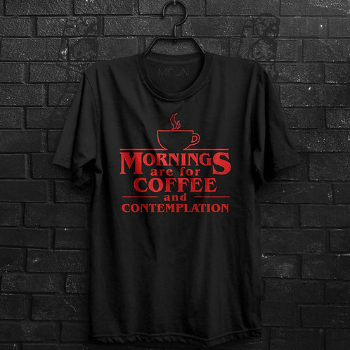 Camiseta - Coffee And Contemplation - Stranger Things