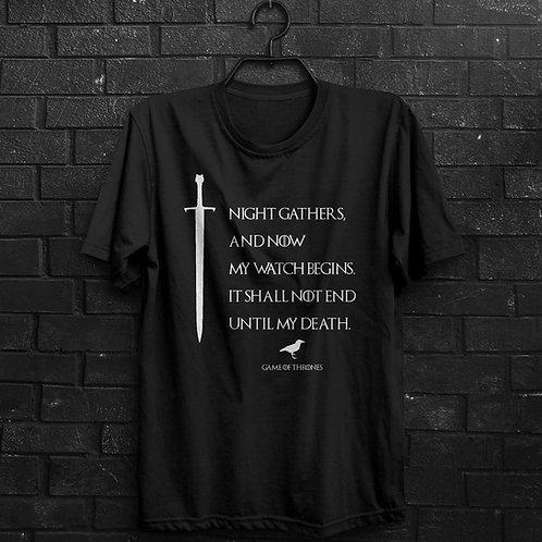 Camiseta - Night Watch - Game Of Thrones