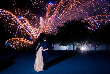 Bride and Groom Fireworks Display