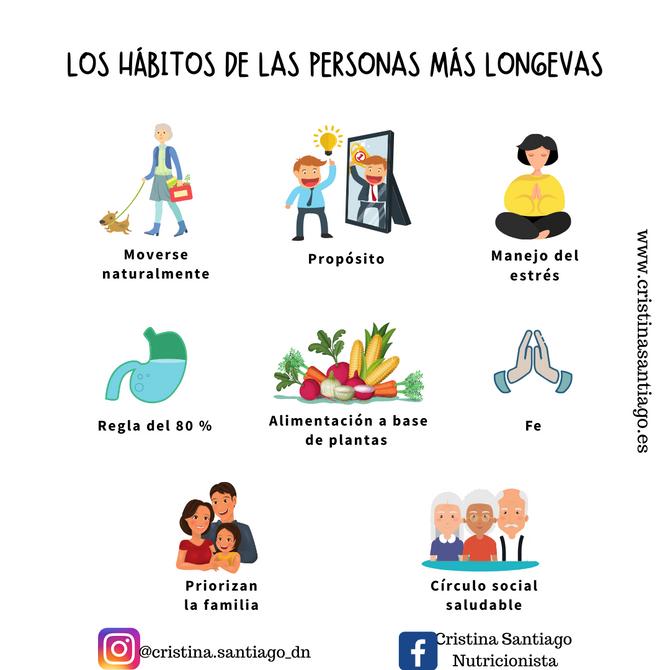 LOS HÁBITOS DE LAS PERSONAS QUE MÁS Y MEJOR VIVEN