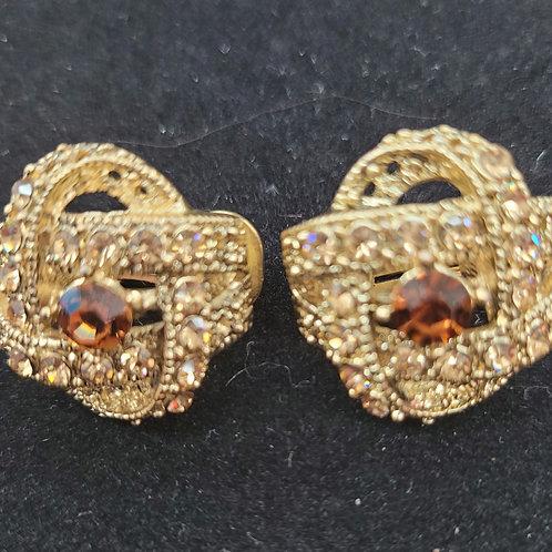Topaz Clip On Earrings