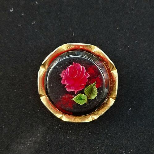 Flower under glass brooch