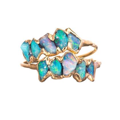 Opaal stenen ring