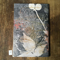 SOLD .... Back of small notebook with hand printed covers (£12)