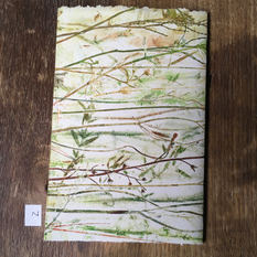 SOLD .... Back of small notebook with hand printed covers (£10)