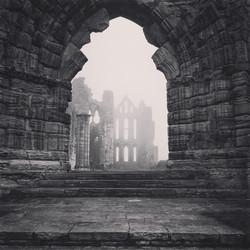 Whitby Abbey in Fog