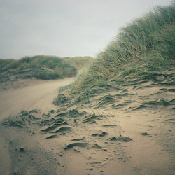 Wind sculpted sand on Harlech Beach
