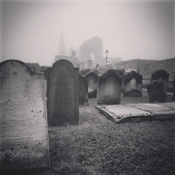 Whity Abbey Churchyard in Fog