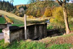 autumn colour wheelbarrow bridge pentre