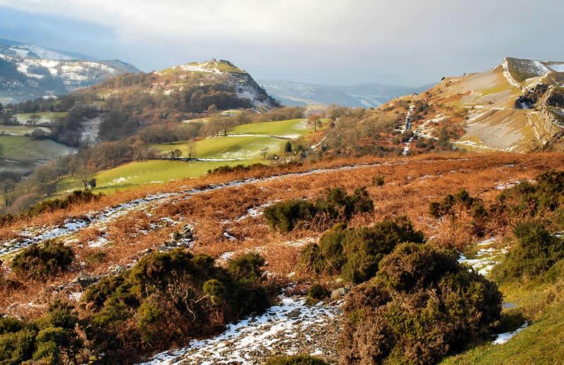 Castell Dinas Bran from the Panorama
