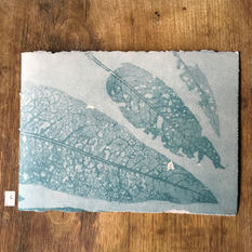 Front of notebook with hand printed covers (£20)