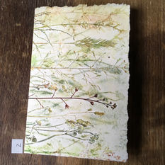 SOLD .... Front of small notebook with hand printed covers (£10) - Mix of delicate meadow grasses