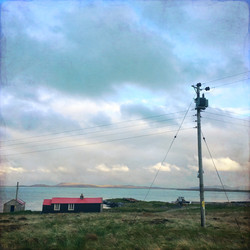 Red roofed hut, Berneray