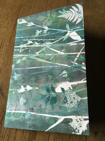 Front or Back: Jade Meadow - the blank notebook is lined with the ghost print of the cover - £30