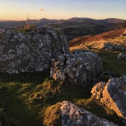 Sunset on the Eglwyseg Rocks