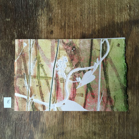 SOLD: Front of small notebook with hand printed covers (£10)