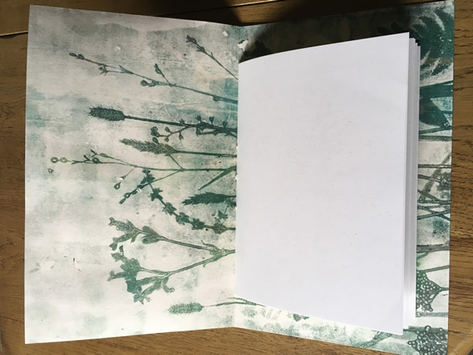 Interior: Jade Meadow- blank notebook lined with the ghost print of the cover - £30