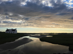 North Uist house and tidal loch